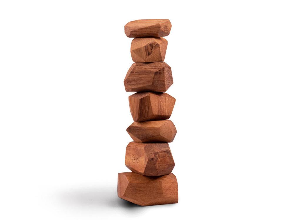 Klocki sensoryczne Jelej zabawka stymulująca drewniana