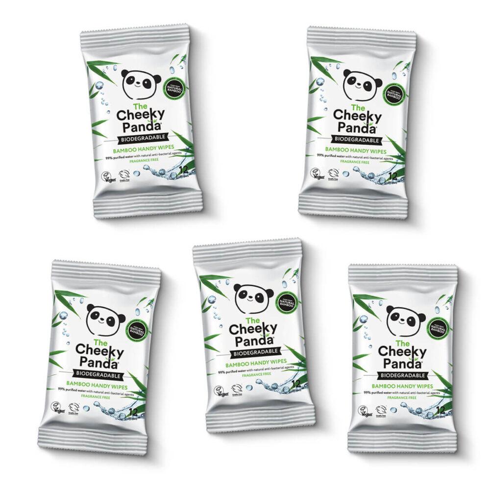 Cheeky Panda - bambusowe chusteczki nawilżane kompaktowe small