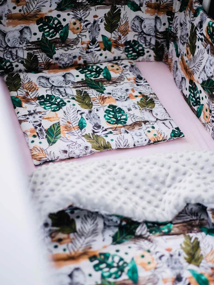 ochraniacz na łóżeczko szczebelki nature solution pościel kocyki zestaw